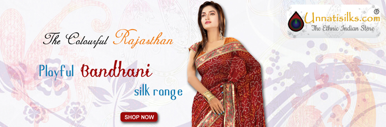 The largest ethnic online Indian shop offers exquisite designer sarees at Unnatisilks.com on online sale