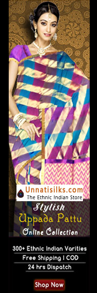 Stylish north Indian sari. At Unnati Silks, you can buy unique, exclusive collection at affordable prices.